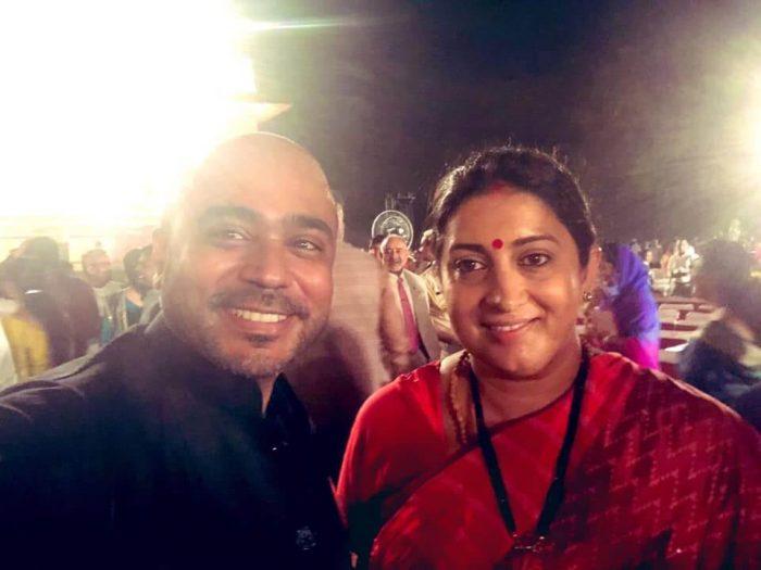 Abhijit Iyer-Mitra With Smrithi Irani