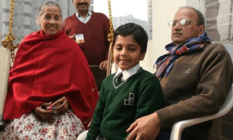 Pulkit Kejriwal Grandparents