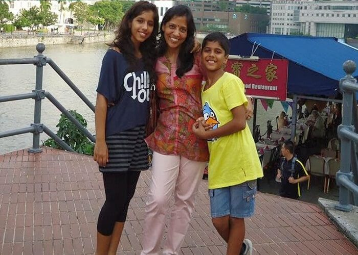 Pulkit Kejriwal With His Mother And Sister