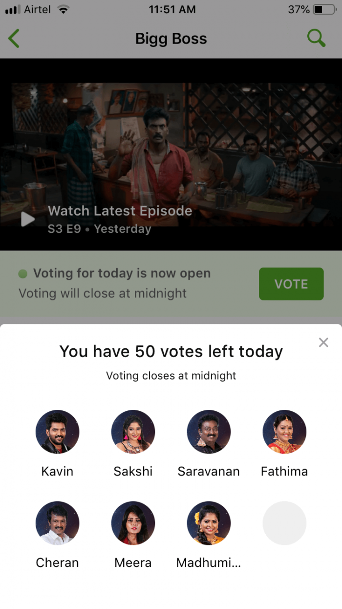 How to Vote Bigg Boss Tamil 3 Online Through Hotstar App - News Bugz