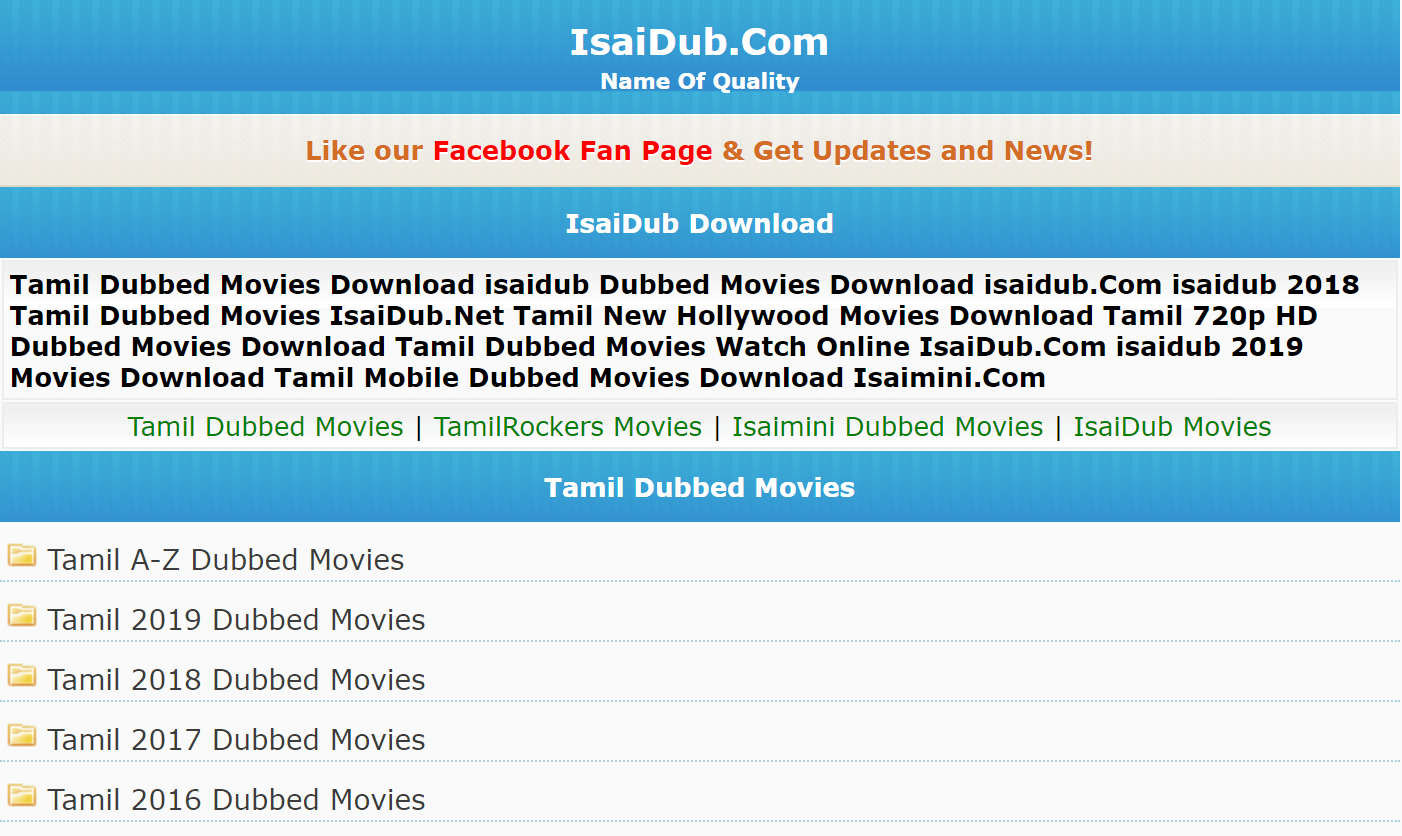 Isaidub Movies Download Website 2019: New Hollywood Tamil