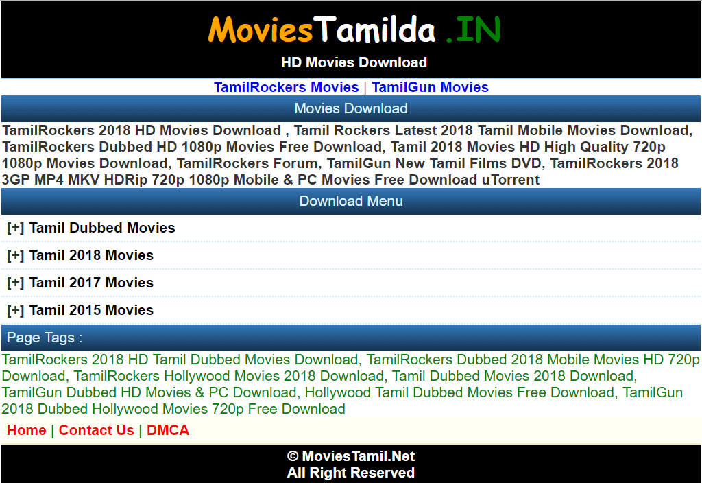 Moviestamilda Website 2019: New Tamil Dubbed HD Movies Free Download