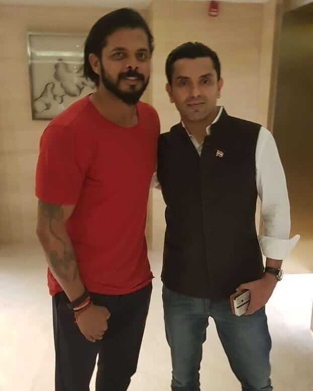Tehseen Poonawalla with Sreesanth