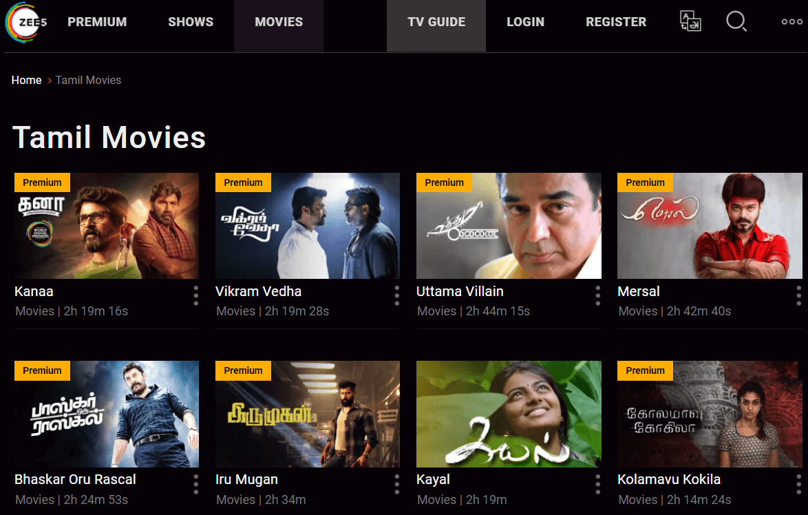 Looking for some mass Tamil movies online? ZEE5 has some