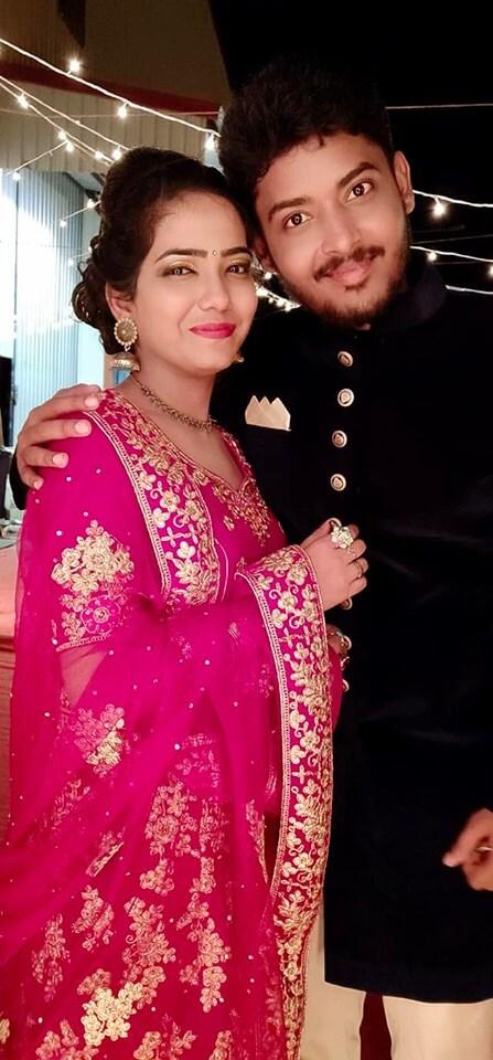 Anjali Kannan with Husband Prabakaran