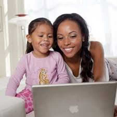 Galina Becker with Daughter Joelle Anoa'i