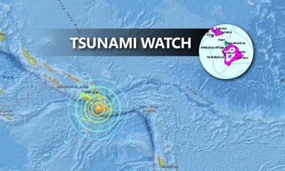 Tsunami Watch for Hawaii