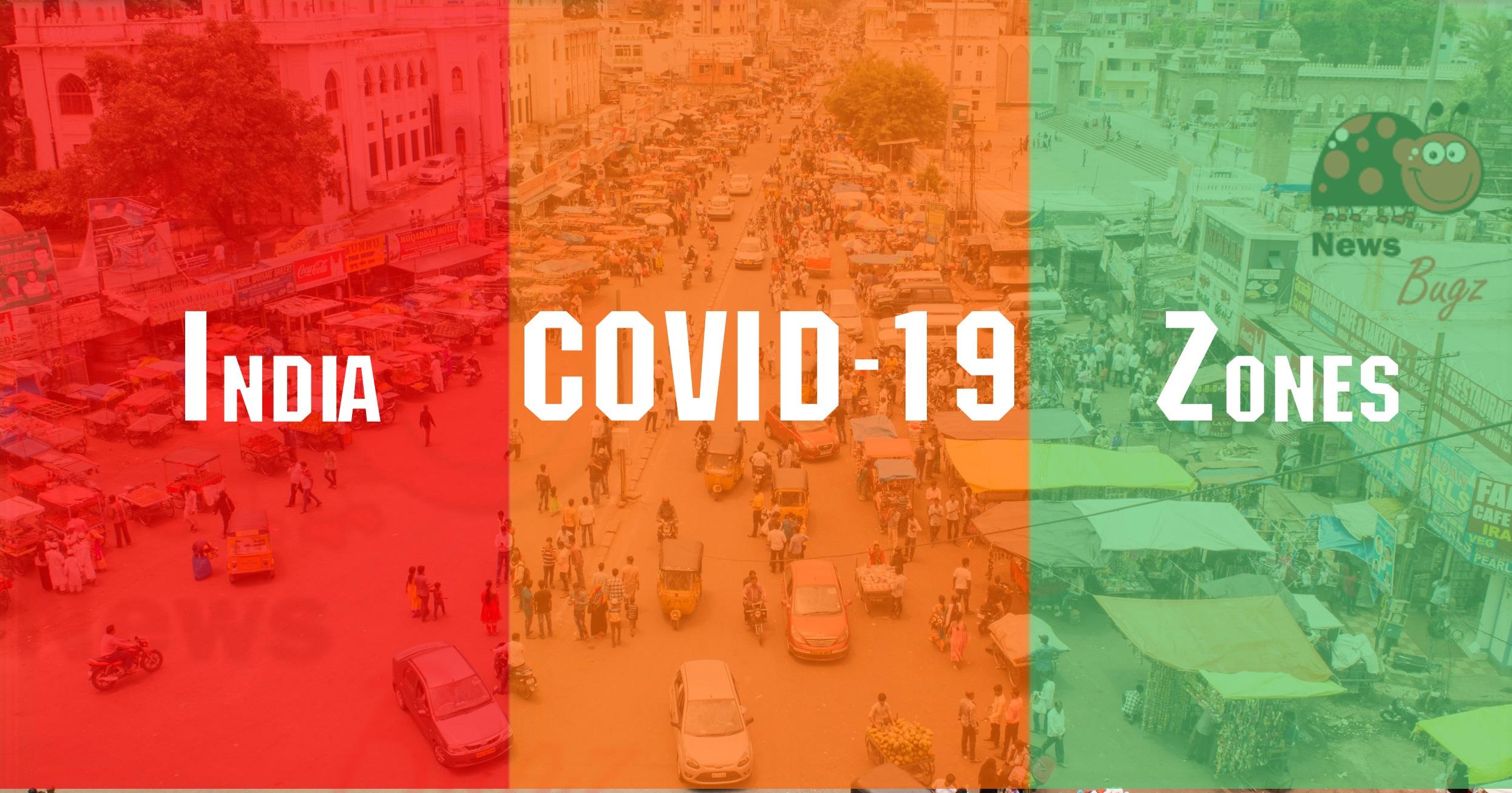 India Coronavirus Zones