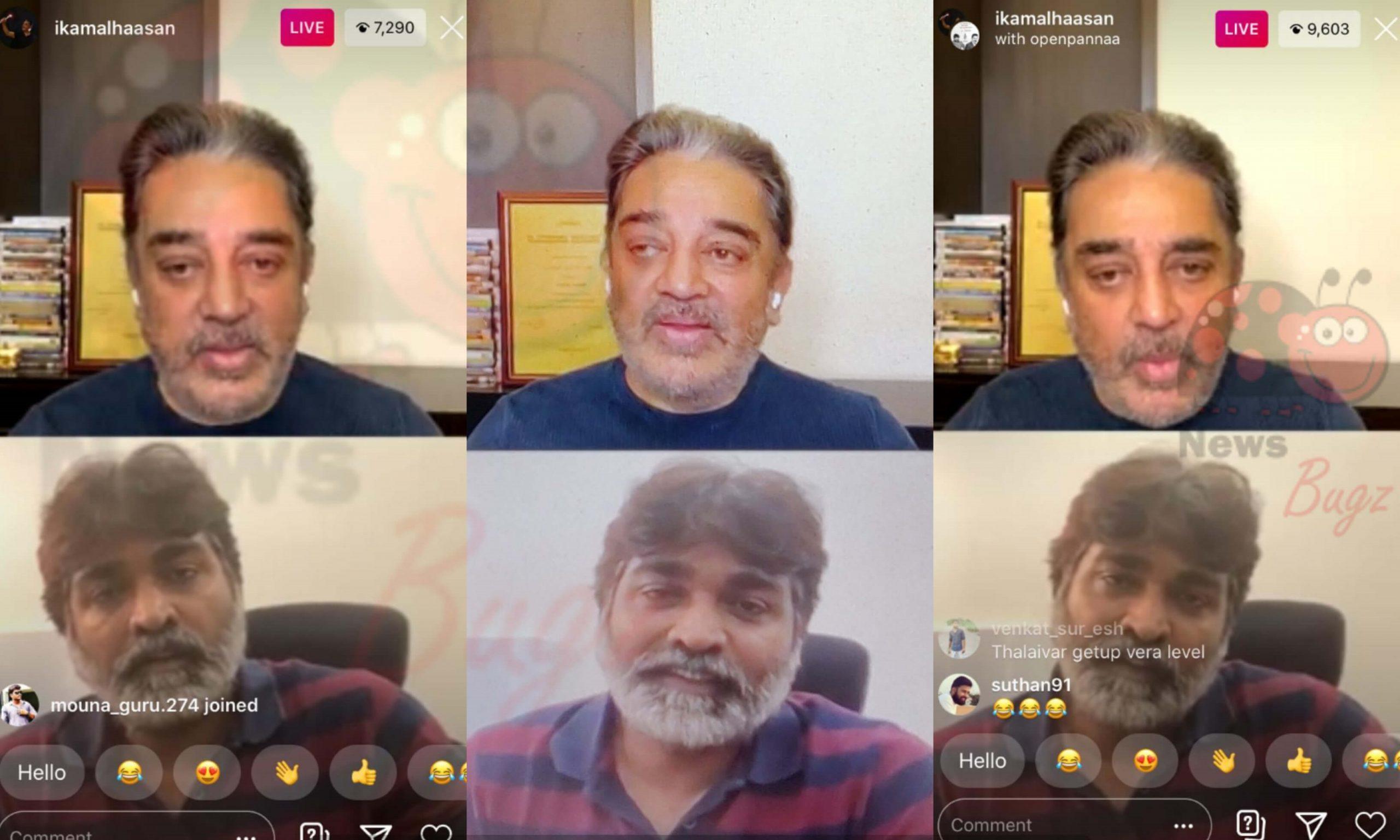 Kamal Haasan Vijay Sethupathi Instagram Live