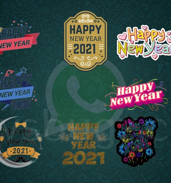 Happy New Year Stickers 2021