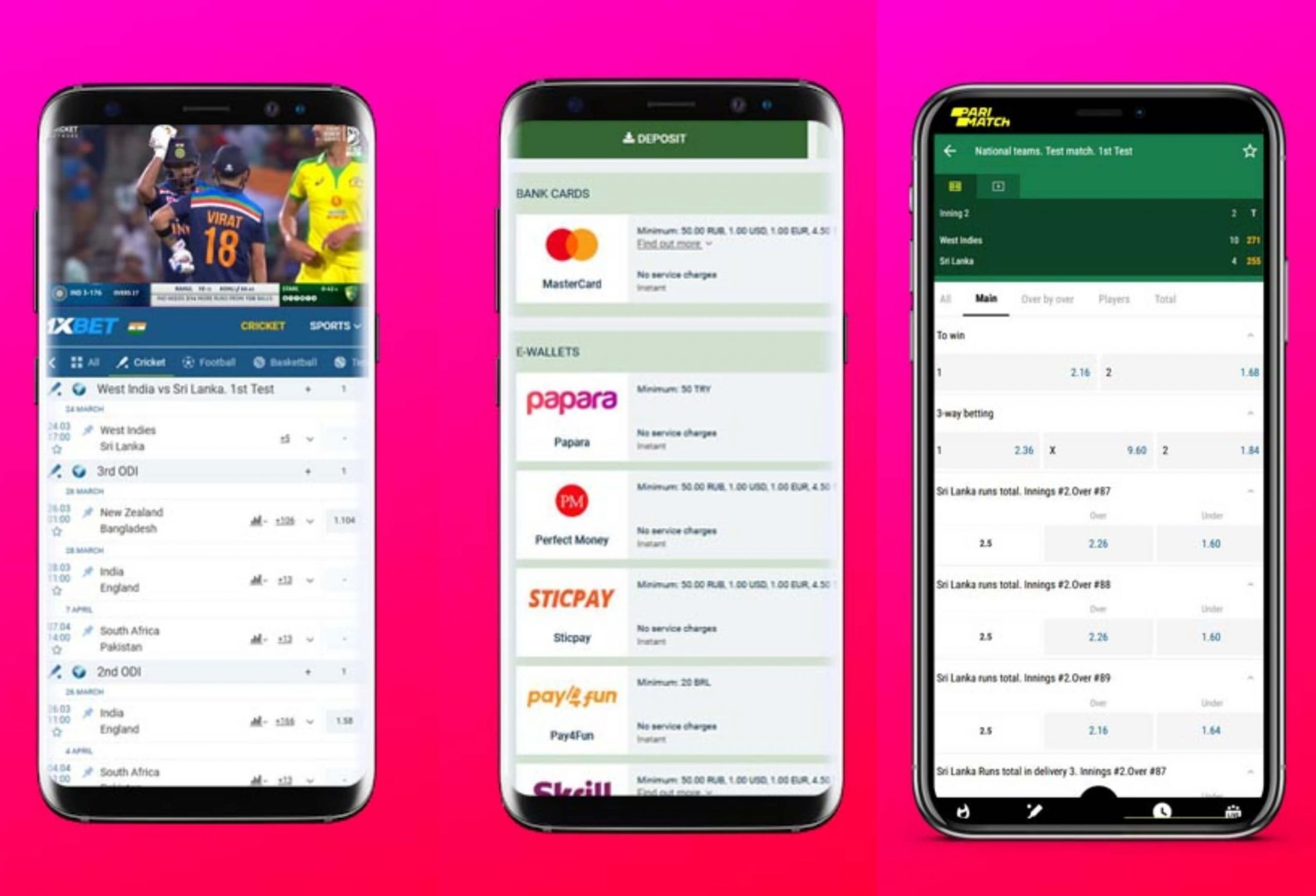 mobile cricket betting