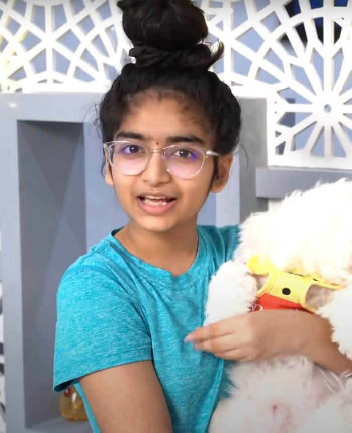 Sahithi pic with fluffy